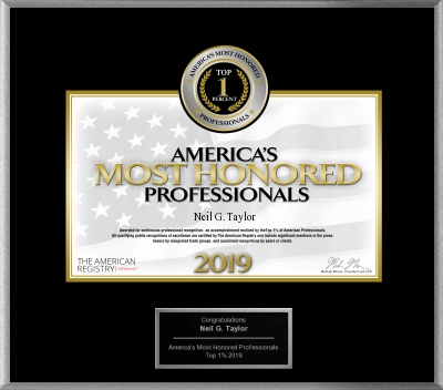 Americas Most Honored Award Neil Taylor